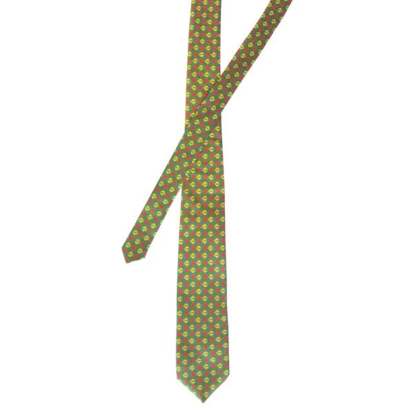 Kamulkas on Green - Silk Twill Tie