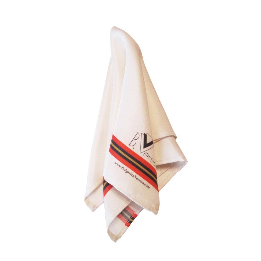 White with Cherga - Silk Square 3