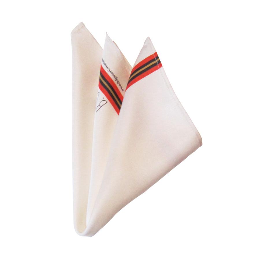 White with Cherga - Silk Square